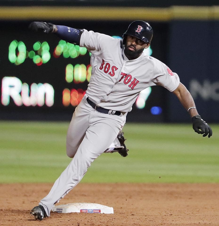 Jackie Bradley Jr. Flying Red sox nation, Red sox