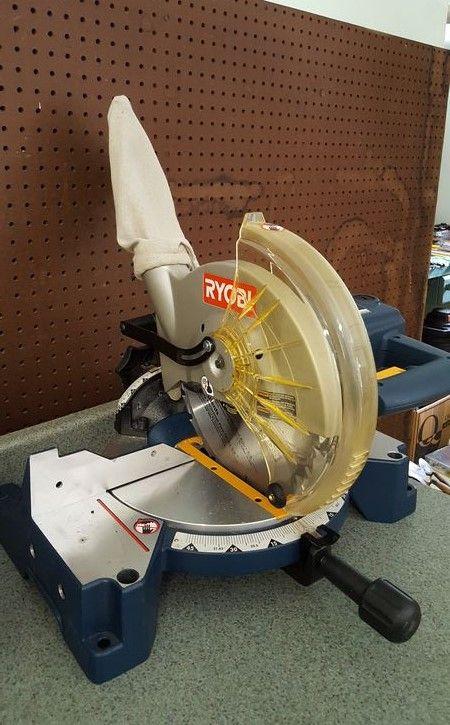Ryobi Ts1342l 10 Miter Saw Like New Model N081737397 Miter Saw Ryobi Tools And Equipment