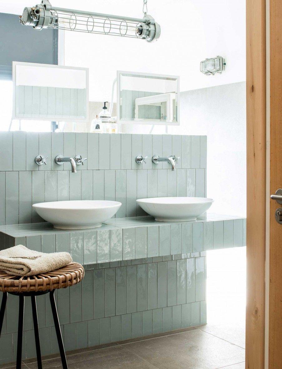 Tegels, voor wc schouw in badkamer, | Bathroom | Pinterest - Blauwe ...