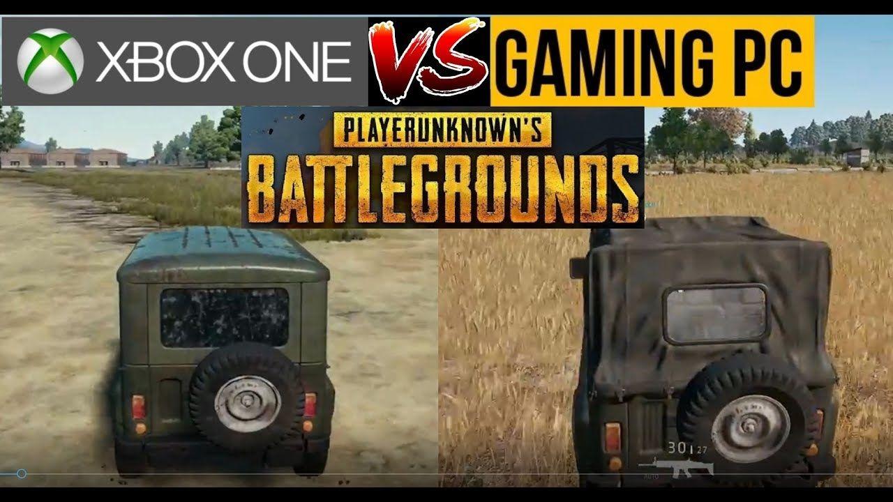 Pubg Gameplay: PUBG XBOX ONE Vs PC Gameplay Comparison