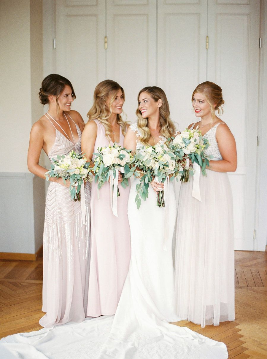 We Think The Rain Made This Day Picture Perfect Silver Bridesmaid Dresses Bridesmaid Poses Wedding Bridesmaids [ 1210 x 900 Pixel ]