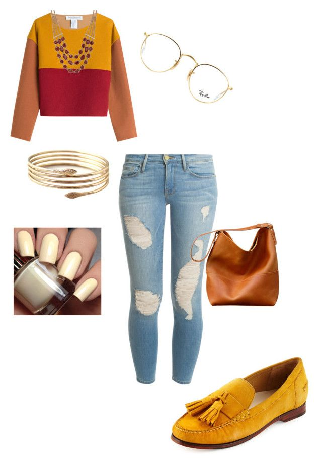 """""""Gryffindor inspired"""" by q-griffin on Polyvore featuring Cole Haan, Frame Denim, Philosophy di Lorenzo Serafini, Ray-Ban and Lucky Brand"""
