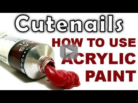 How To Use Acrylic Paints For Your Nail Art Acrylic Nails Tutorial
