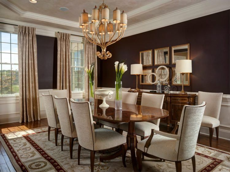 10 Beautiful Dining Rooms with Brown Walls | Brown dining room, Dining room  colors, Beautiful dining rooms