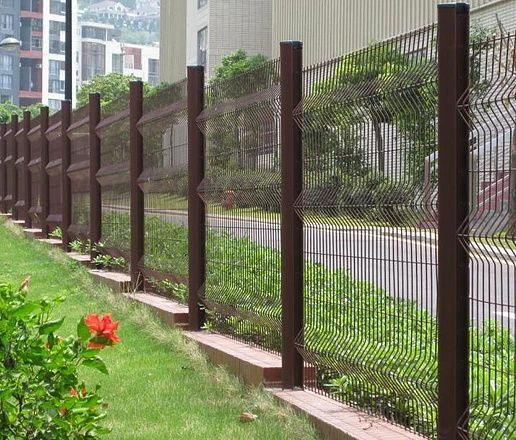 Pvc Coated Welded Wire Mesh Fence Panel Gard