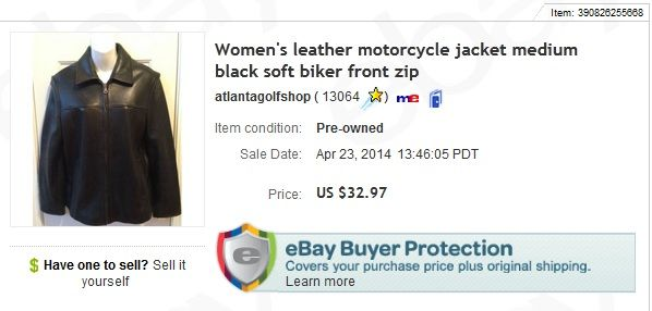 Leather Jacket 5 At Goodwill Store Sold For 32 97 Plus