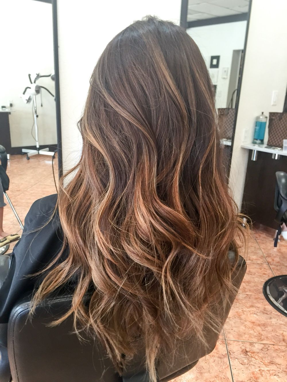 Caramel balayage highlights on dark hair best balayage - Balayage braun caramel ...
