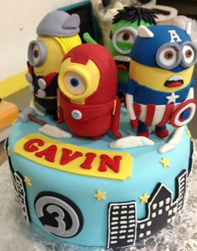 Marvelous Avengers Minions Mashup Cake | Minion cakes ...