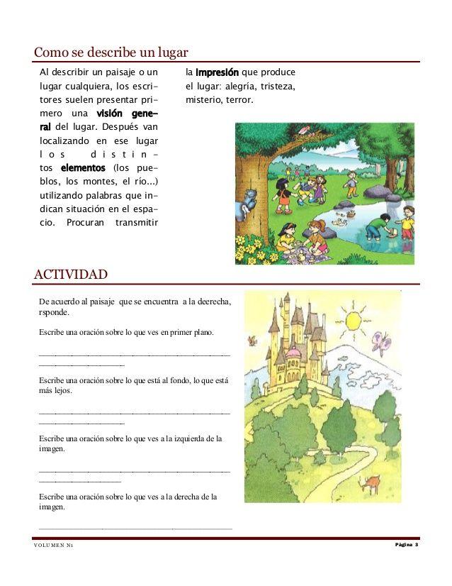 Elaborar Una Descripcion A Partir De Una Imagen Lectura De Comprensión Cuadernos De Matemáticas Actividades