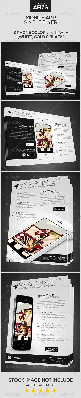 #Mobile #App Flyer - Commerce #Flyers Download here: https://graphicriver.net/item/mobile-app-flyer/5836628?ref=alena994