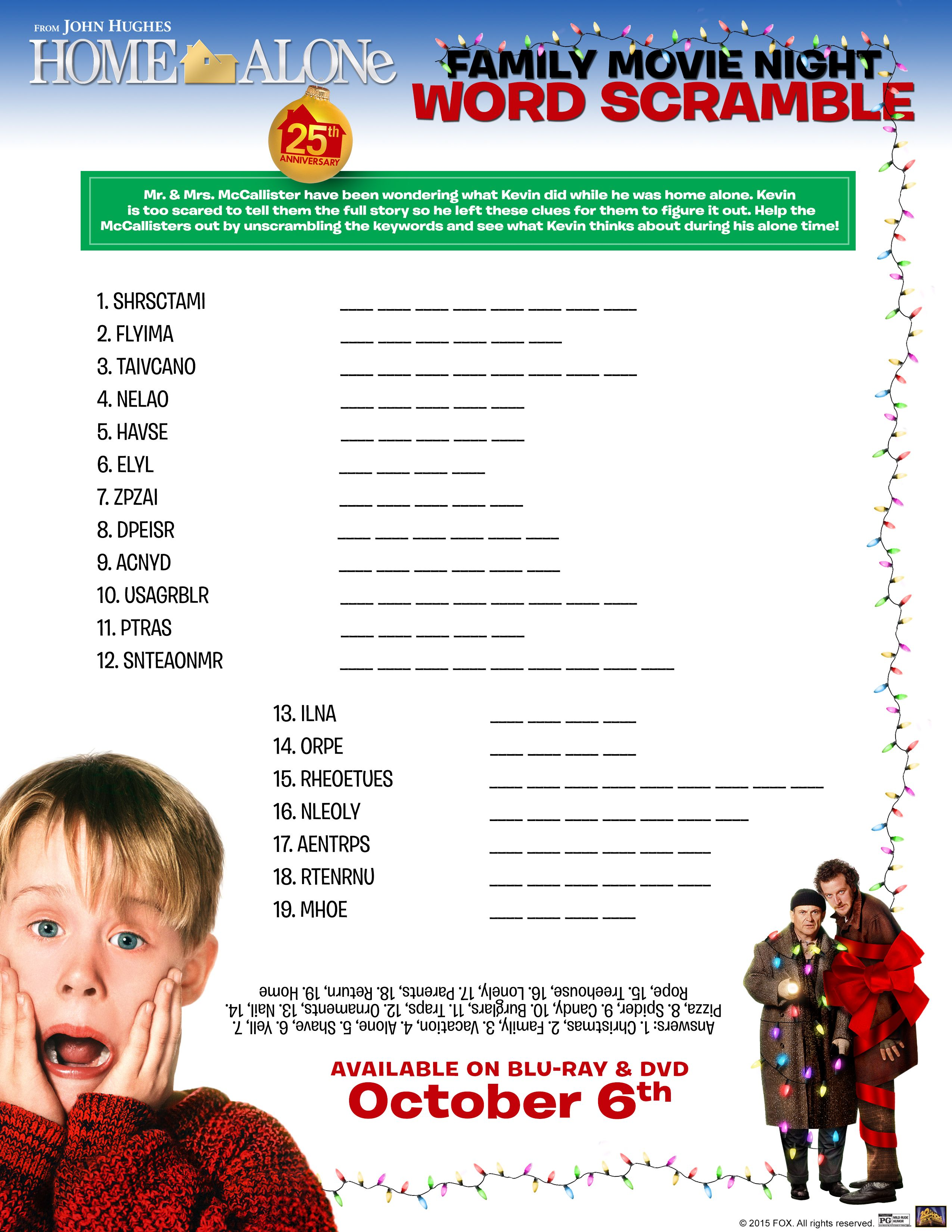 Free Home Alone Activity Printables | Activities | Pinterest | Home ...
