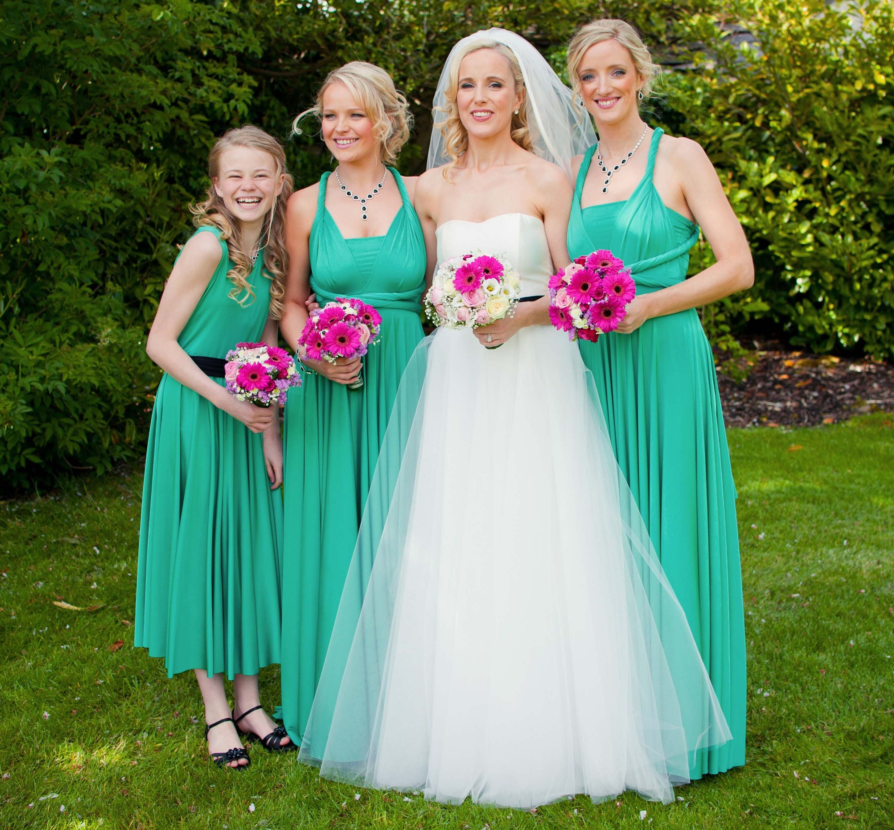 Kelly green ballgowns flower girl twobirds bridesmaid dresses kelly green ballgowns flower girl twobirds bridesmaid dresses a beautiful wedding featuring our ombrellifo Image collections