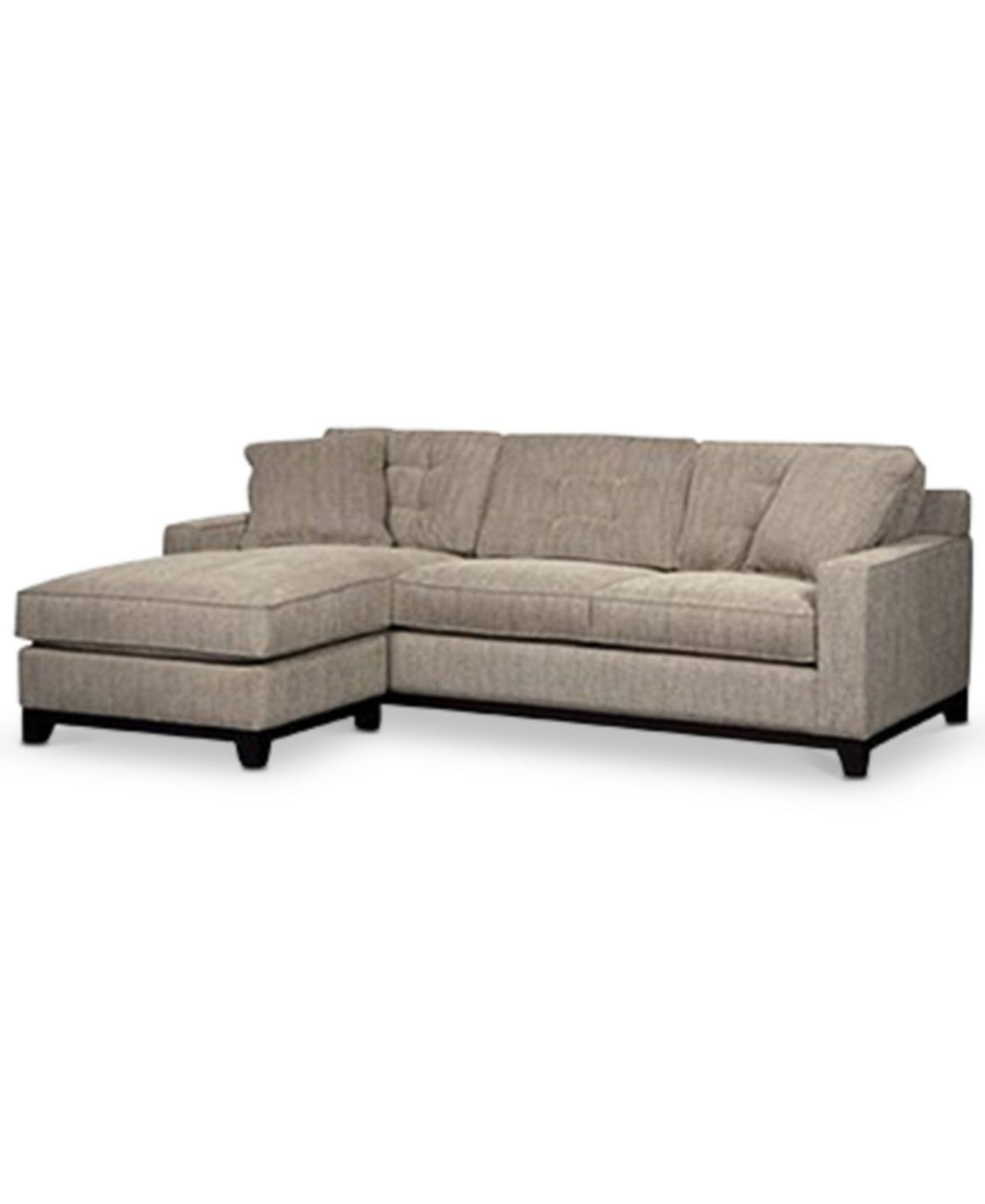Fabric Sectional Sofas With Chaise Clarke Fabric 2-piece Sectional Sofa With Chaise, Only At