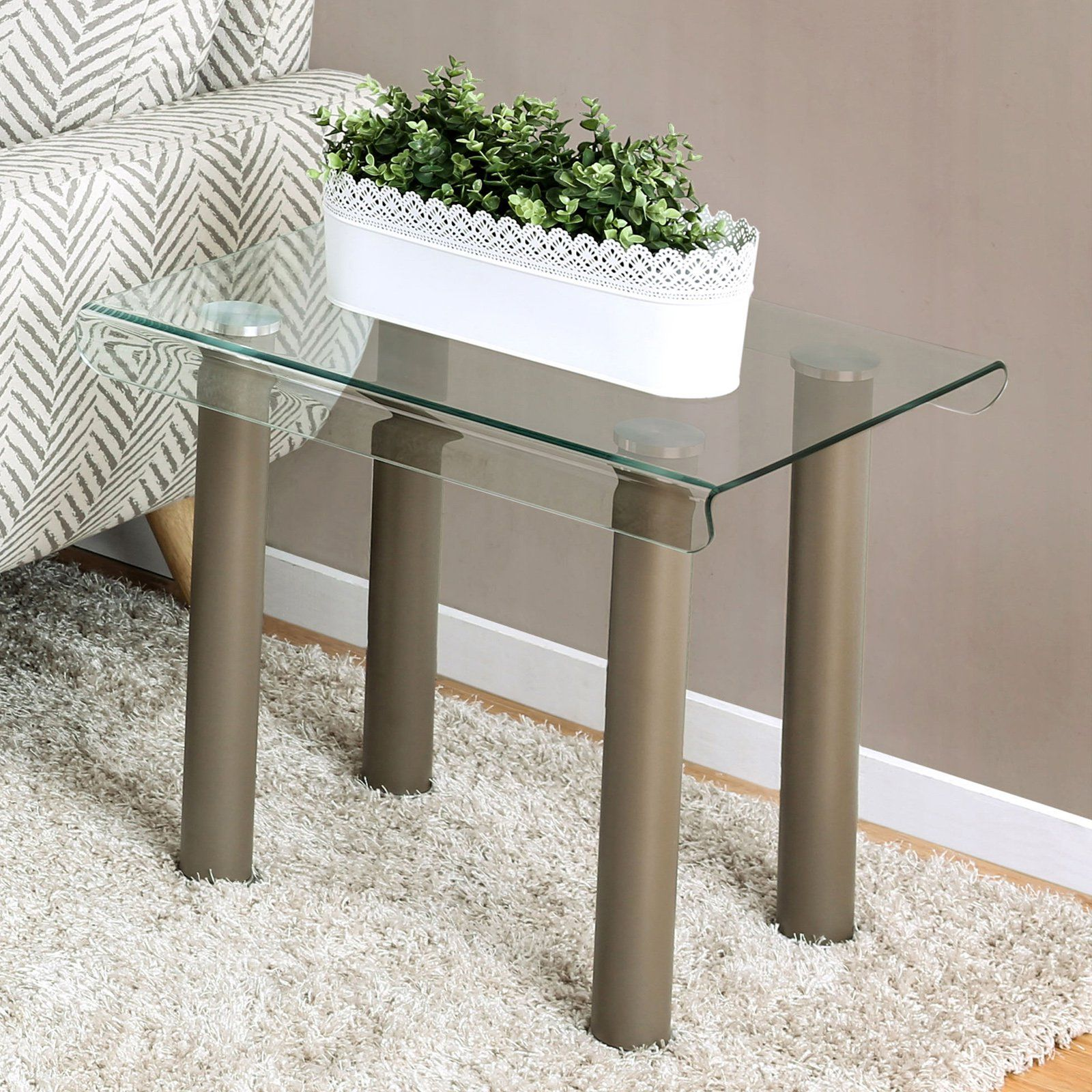 Furniture Of America Newman Contemporary End Table Contemporary