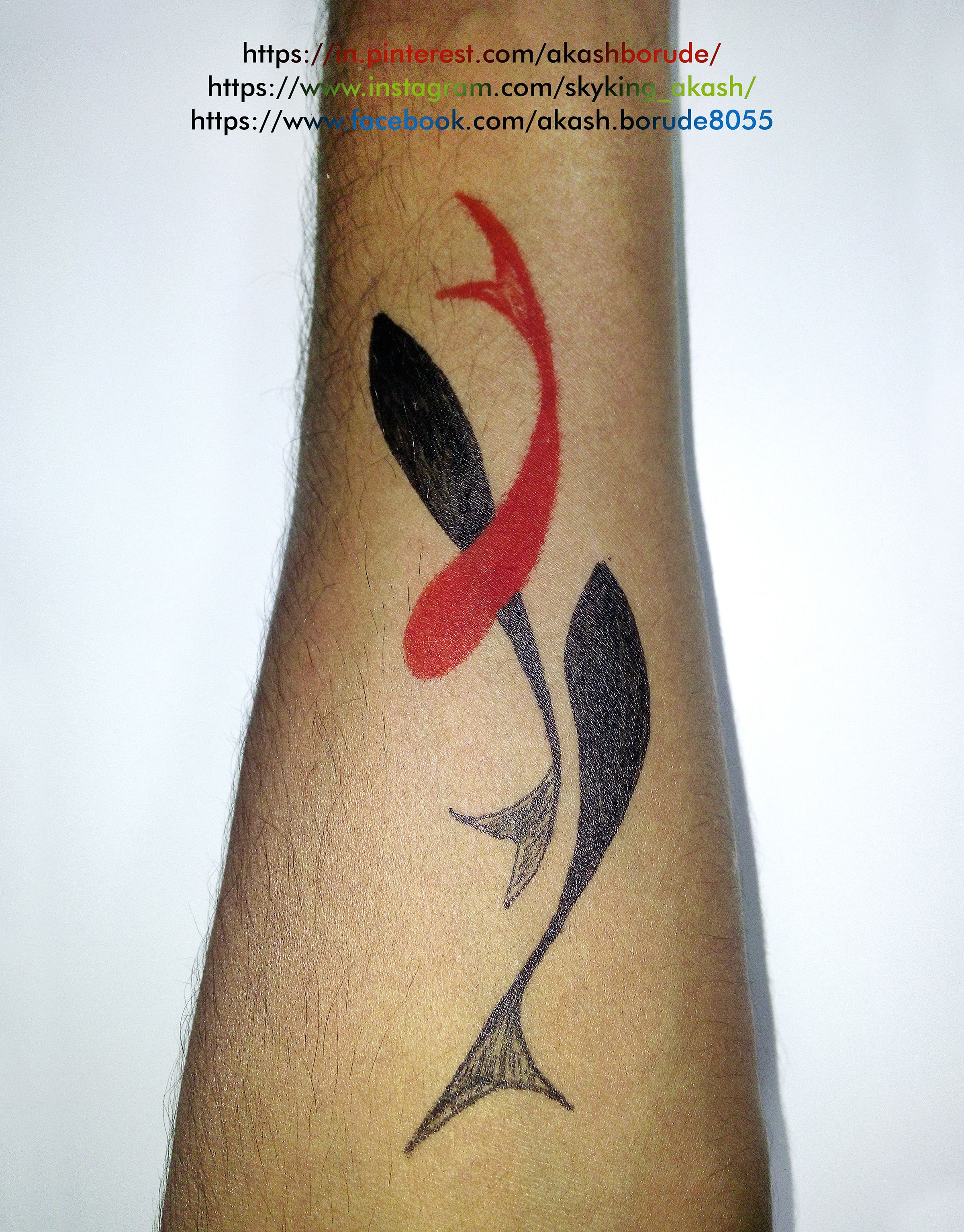 #TattooArtist #SelfMade #MyDesign #MyTattoo #OneDayTrial #PenUseOnly 12/2/2015