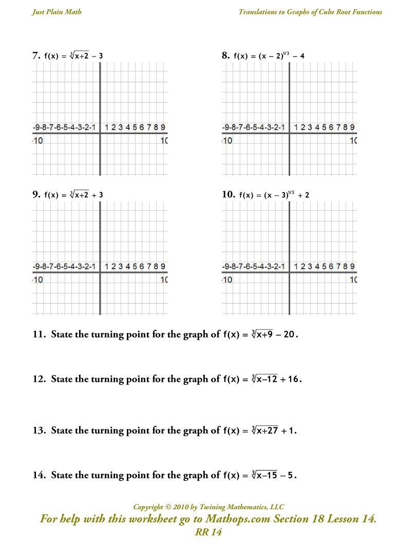 Writing Quadratic Equations From Graphs Worksheet