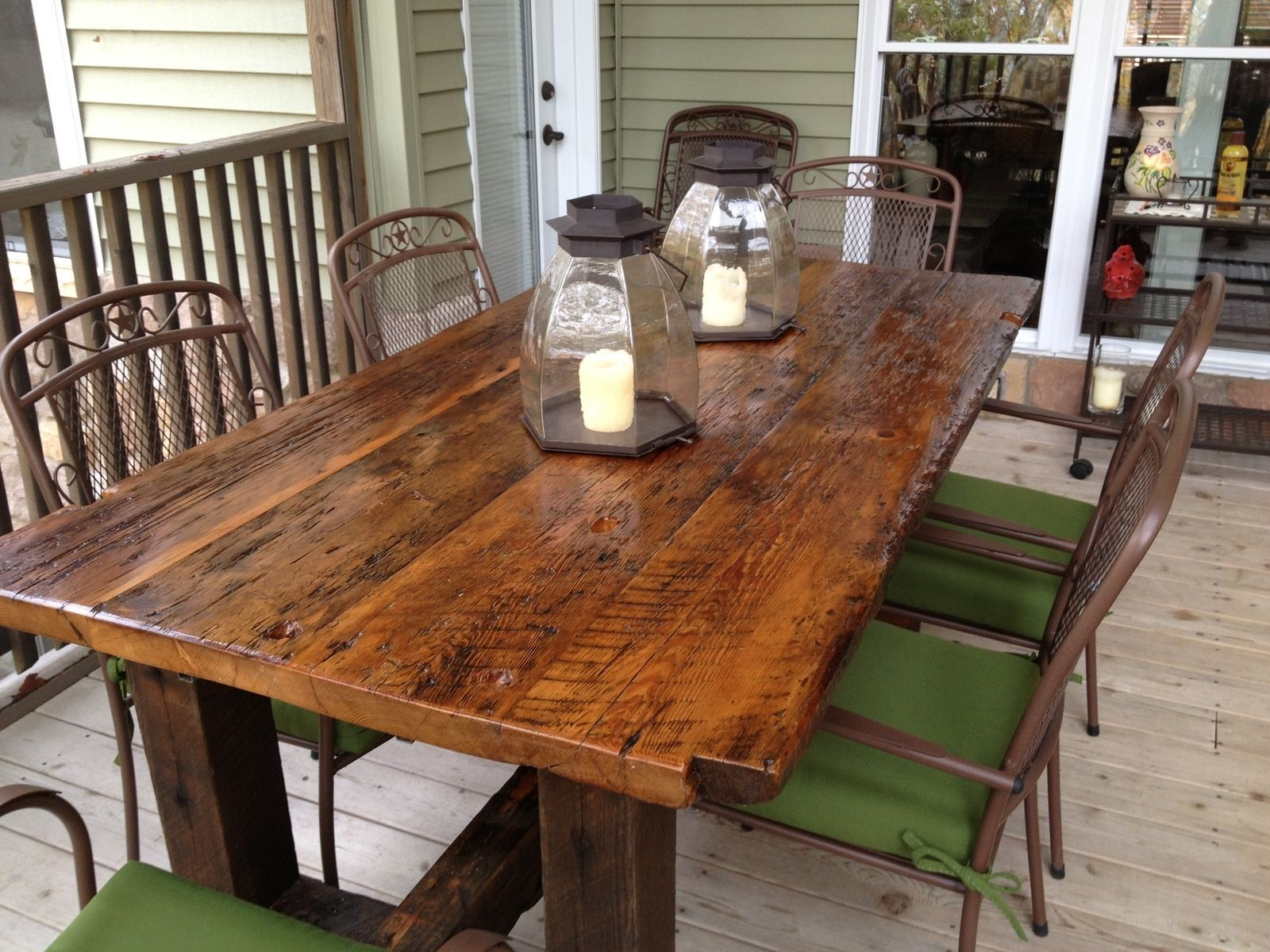 Images about old barn wood furniture on pinterest - Custom Made Reclaimed Trestle Table