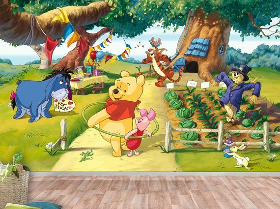 Winnie the Pooh Wall mural, Wallpaper, Wall décor, Wall