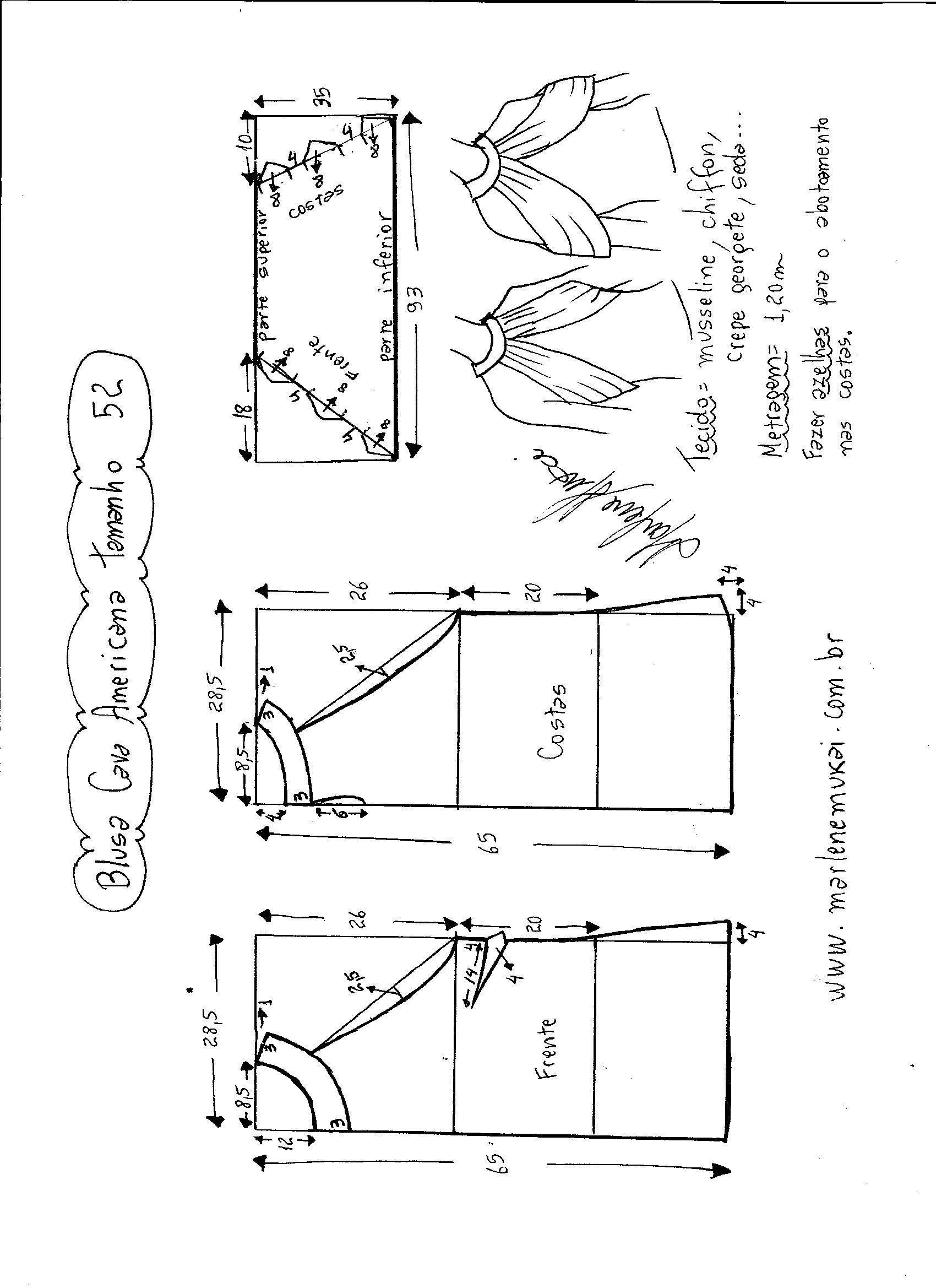 Blusa de sisa americana con drapeado | patrones | Pinterest ...