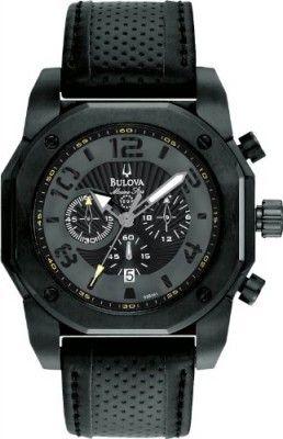 e0844294fd9 Relógio Bulova 98B151 Mens Marine Star Chronograph Black Watch ...