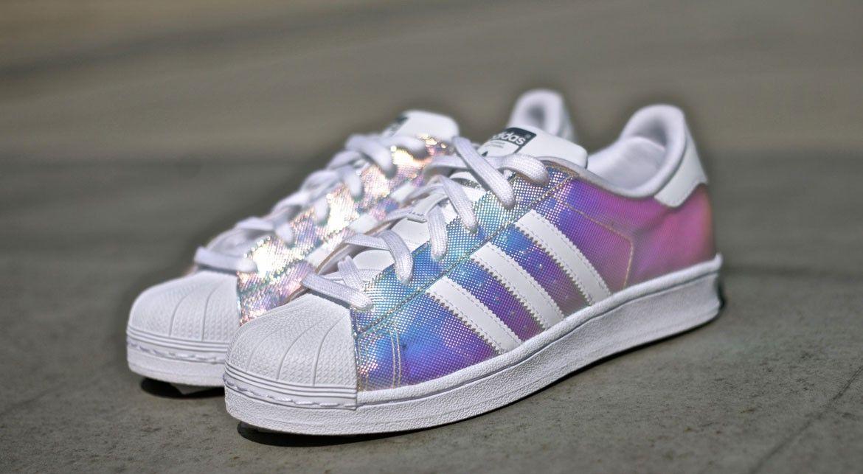 adidas superstar rainbow metallic