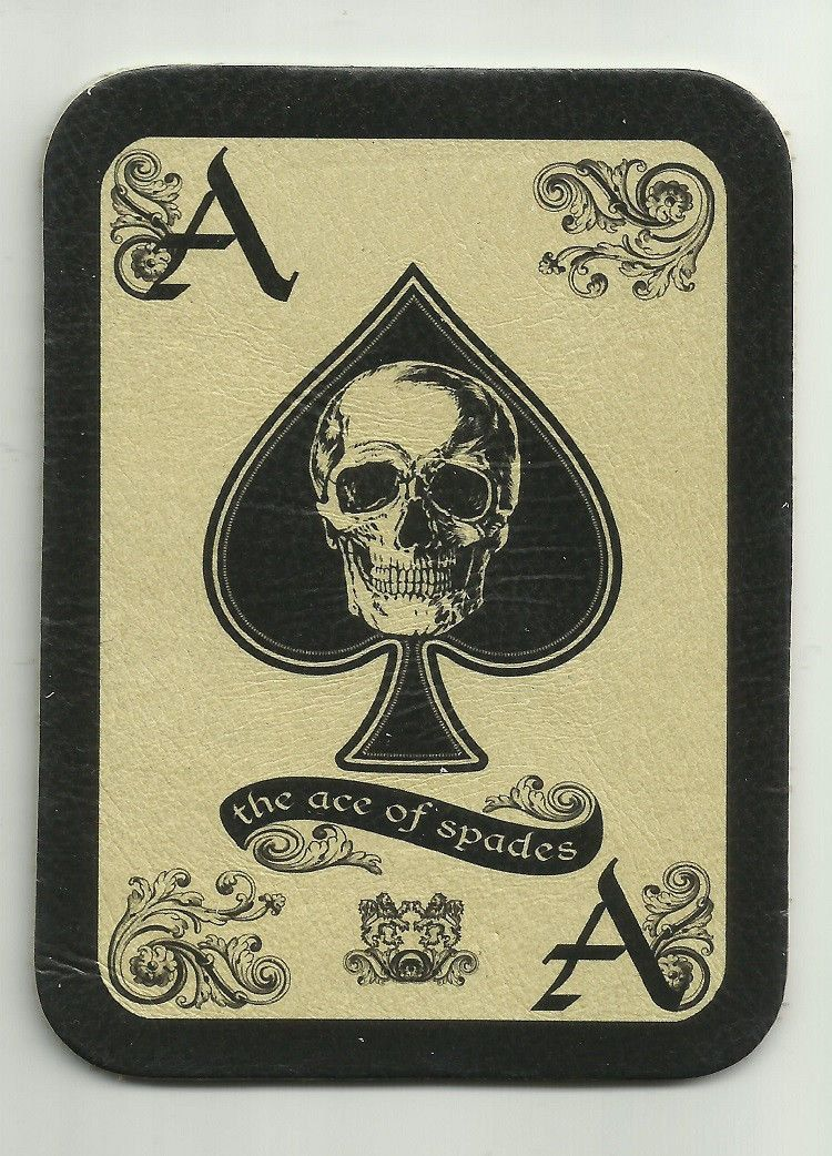 Leather Ace Of Spades Death Card Morale Patch Tattoo Parches
