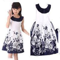 65cc8eea6 Niñas Vestidos de Verano 2016 Sin Mangas de la Princesa Vestido Floral  Casual Niños Vestidos para Niñas 8 10 11 12 Años de Los Niños ropa