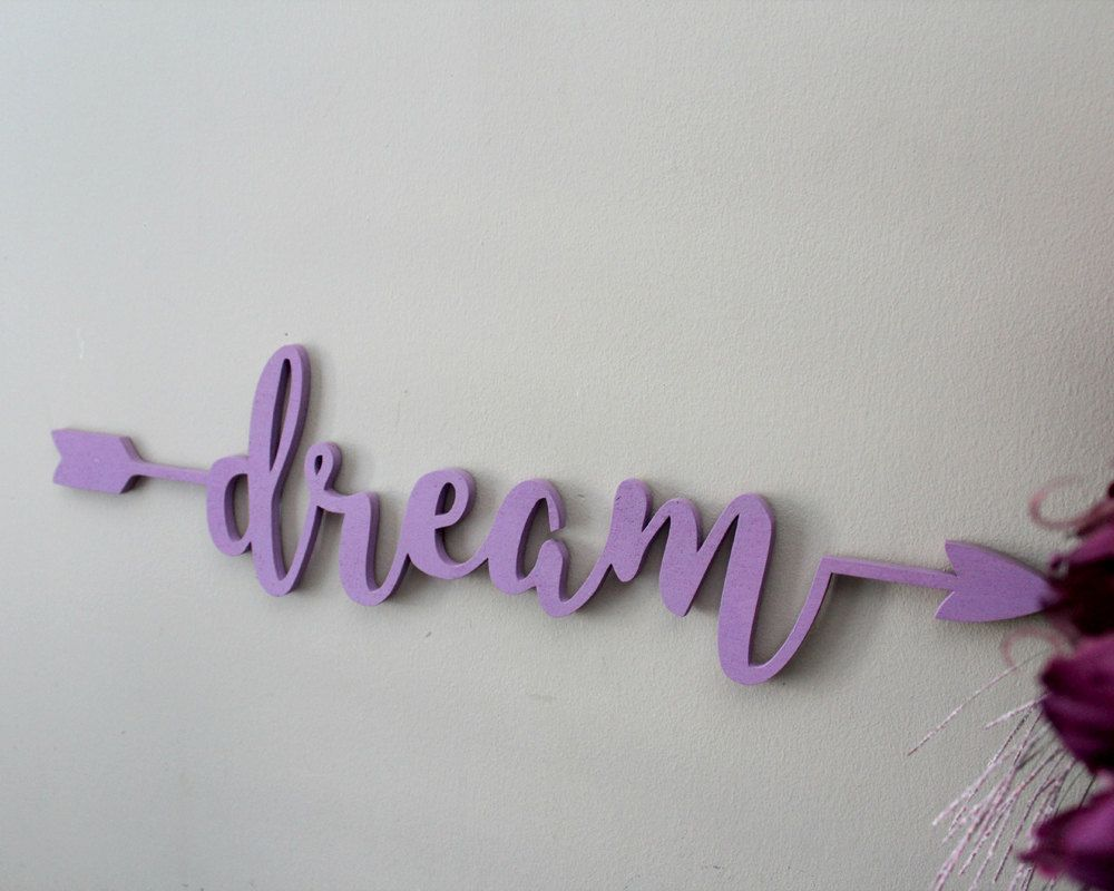 Dream wooden arrow sign dream wall decor wood sign art wood dream