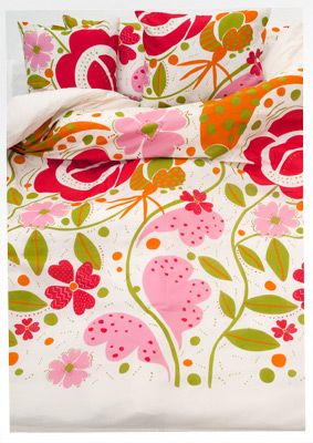 """""""Sommarblom"""" eco-cotton quilt cover – Summer flowers – GUDRUN SJÖDÉN – Webshop, mail order and boutiques 