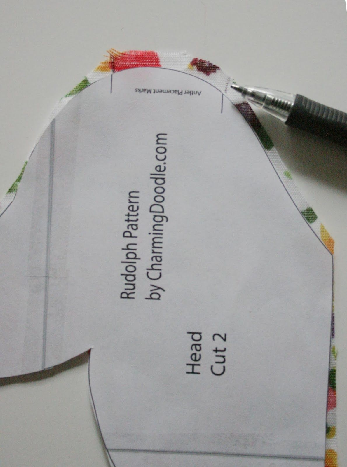 Sewing Tutorial: Make a Fabric Deer Head (or Rudolph | Pinterest ...