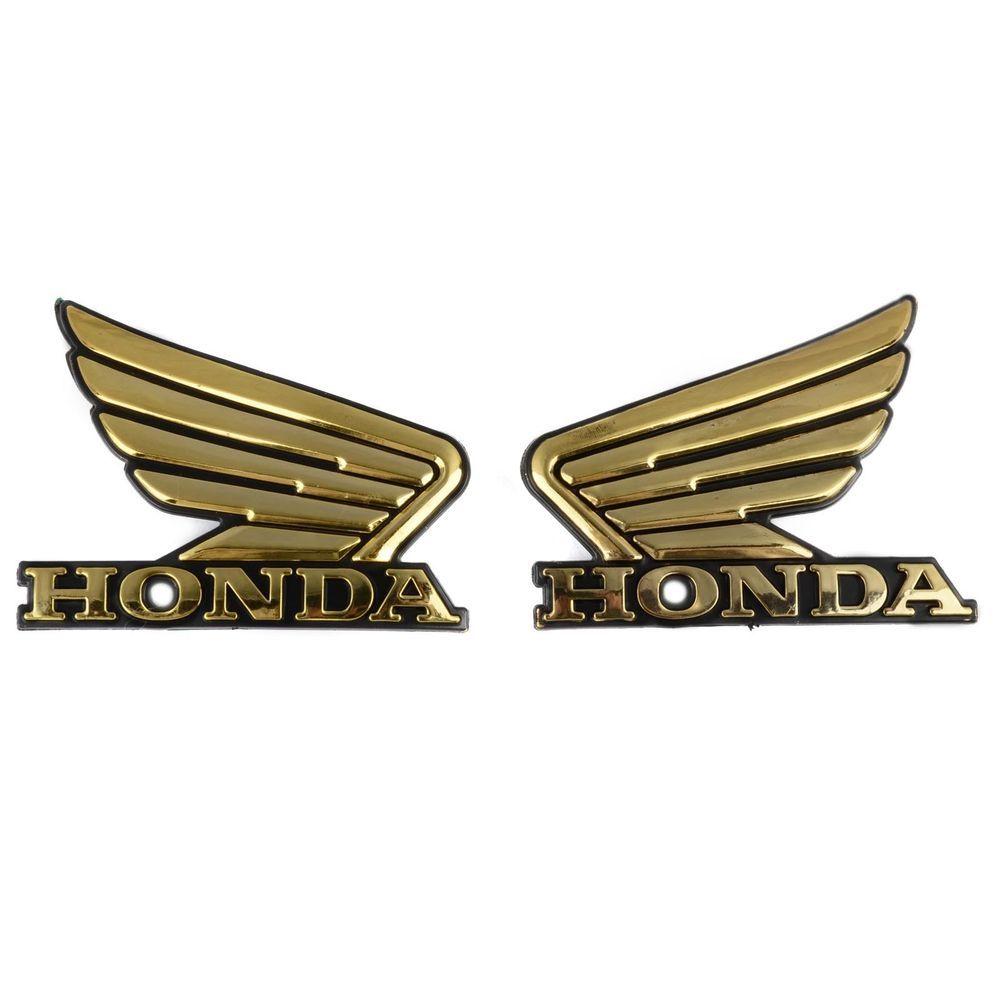2x Abs Gold Honda Wing Gas Tank Emblem Badge Decal Sticker For Honda New Honda Wing Honda Logo Gas Tanks