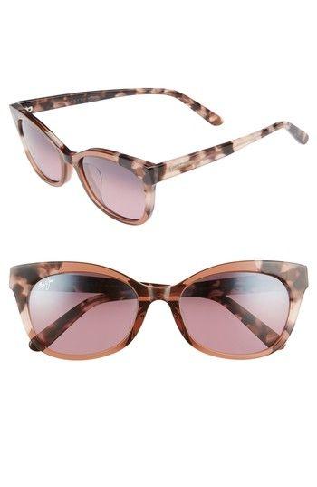 Maui Jim Ilima Sonnenbrille Pink / Tokyo Tortoise 64 Polarisiert 53mm Sl0Gkun