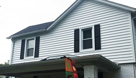Vinyl Siding And Gaf Timberline Shingles Roof Replacement Project Photo In Lombard Vinyl Shingle Siding Shingle Siding Roof Shingles