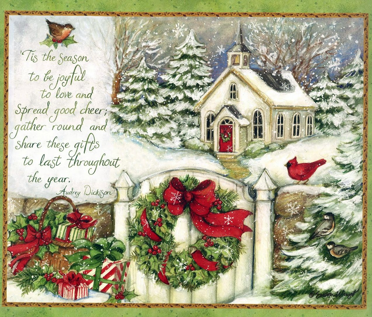 Tis the season to be joyful my forever christmas pinterest little church assorted boxed christmas cards 1008100 kristyandbryce Choice Image