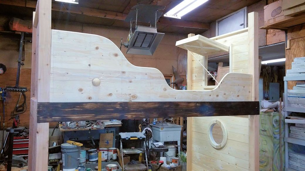Pirate Bunk Beds In Raw Wood State Before Paint