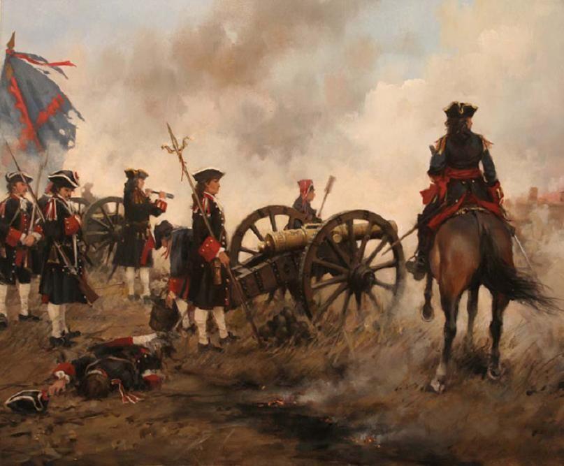Spanish Artillery at the Siege of Oran 1732 by Gustavo Ferrer Dalmau
