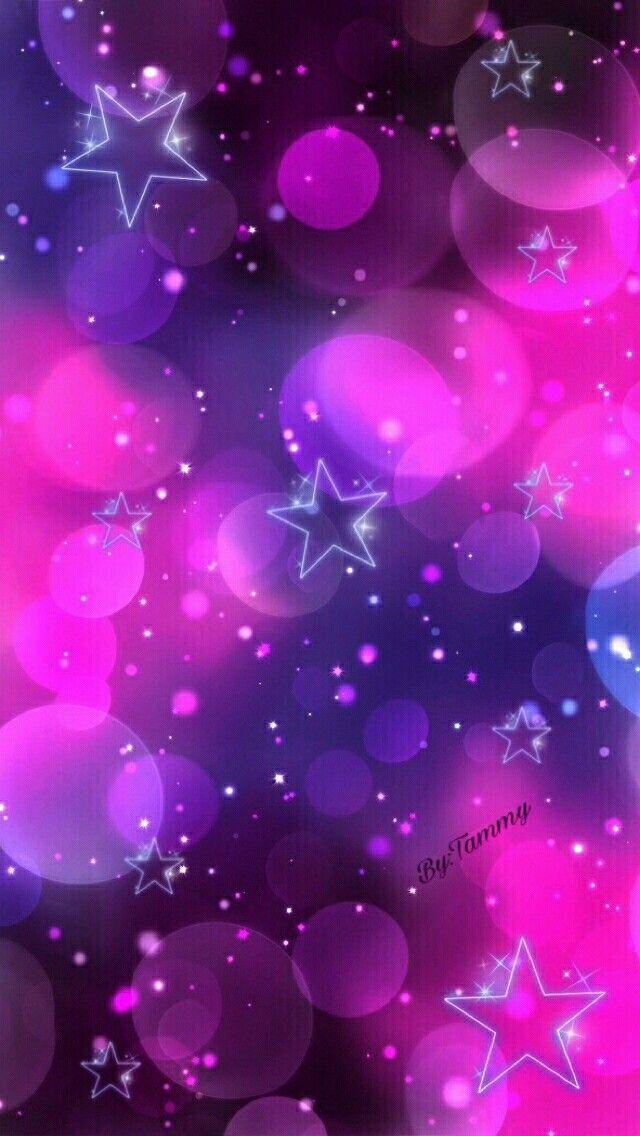 Pink Purple Stars Wallpaper Pretty Wallpapers Rainbow Wallpaper Cellphone Wallpaper