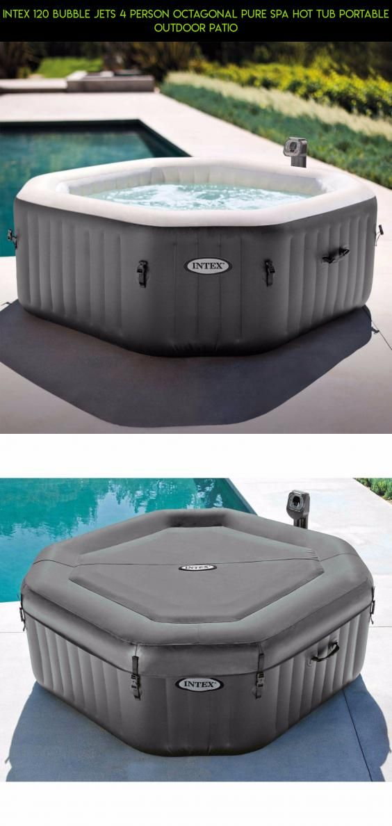 Intex 120 Bubble Jets 4 Person Octagonal Pure Spa Hot Tub Portable ...