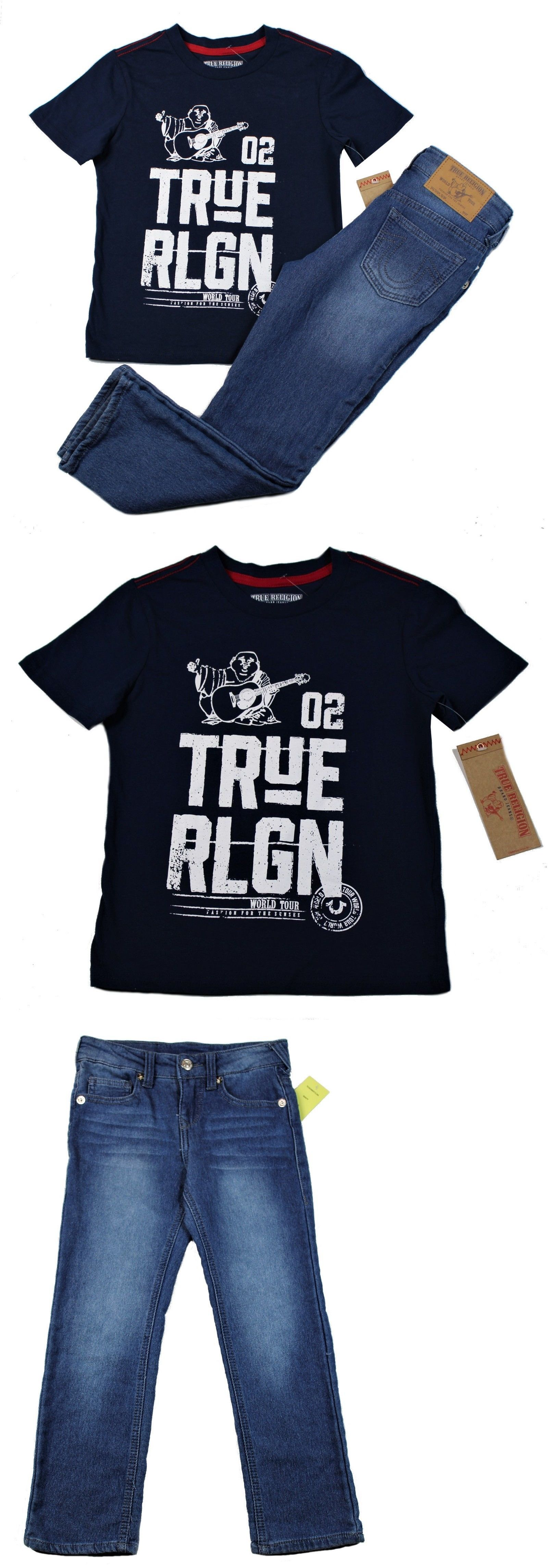 eb2d5ed9 Outfits and Sets 156790: New True Religion Little Boys 2 Piece Set Camo  Logo Tee And Jeans Navy Blue Size 6 -> BUY IT NOW ONLY: $34.79 on #eBay  #outfits ...