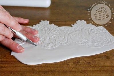 Cake Walk: Fondant Lace Tutorial