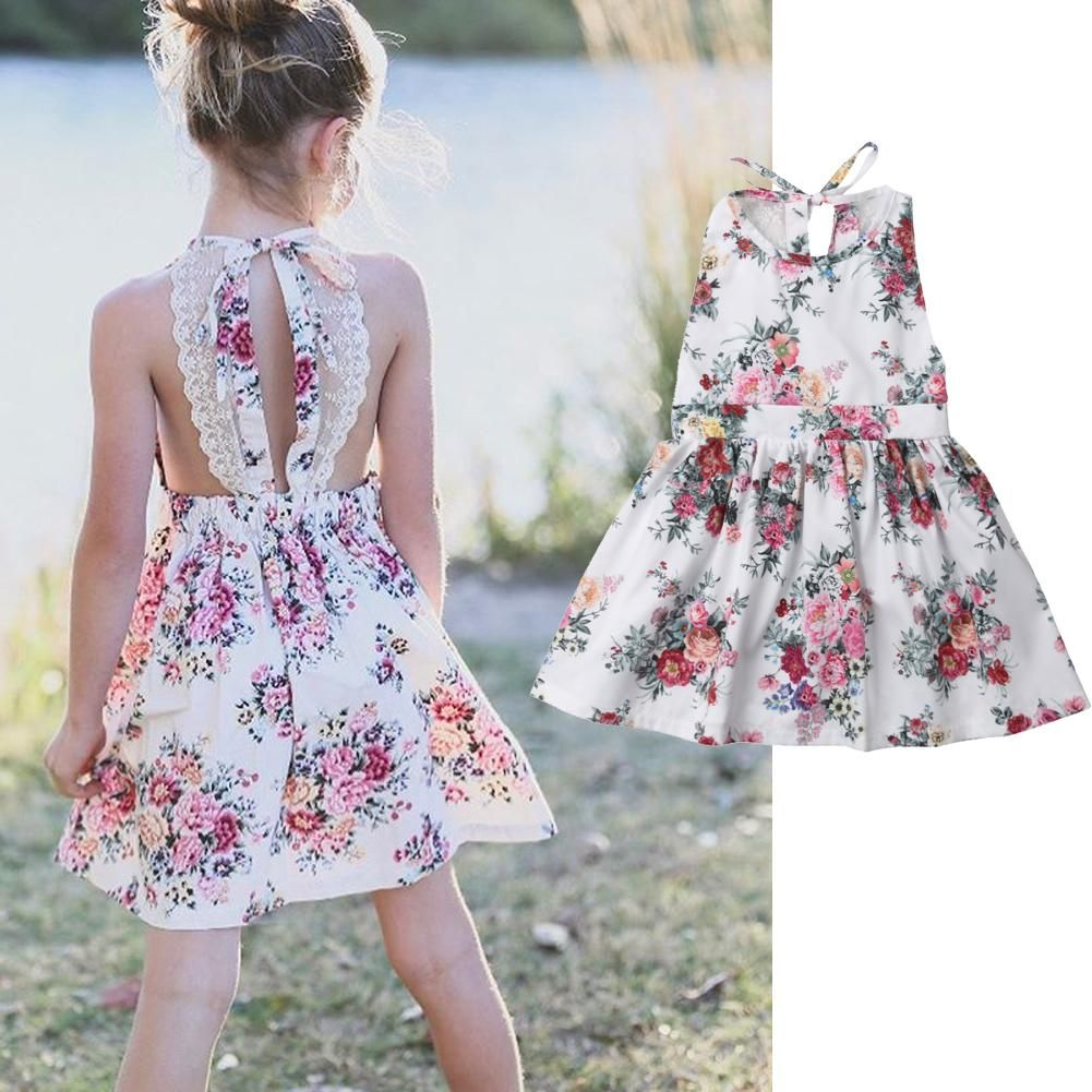 Backless Lace Floral Dress Dresses For Teens Cute Casual Dresses Girls Dresses [ 1001 x 1001 Pixel ]