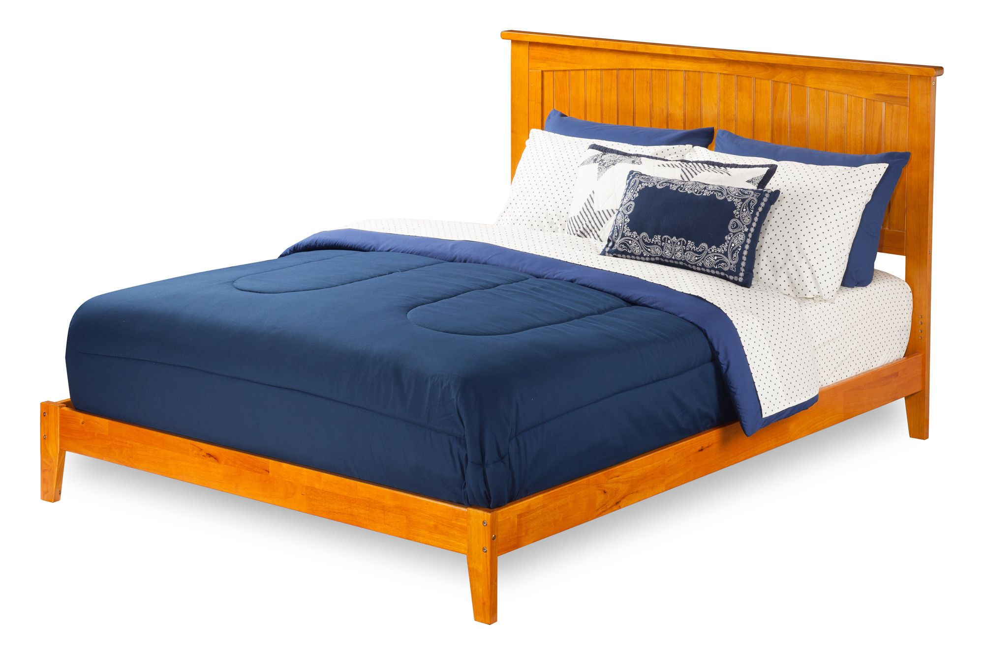 Plainfield Panel Bed Upholstered platform bed, Atlantic