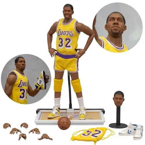 Nba Los Angeles Lakers Earvin Magic Johnson 1 6 Scale Action Figure Magic Johnson Action Figures Los Angeles Lakers