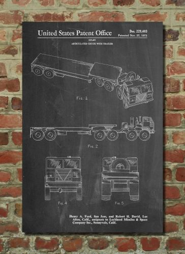 Truck Driver Poster Truck Driver Patent Truck Driver Print Truck Driver Art Truck Driver Decor Truck Driver Blueprint