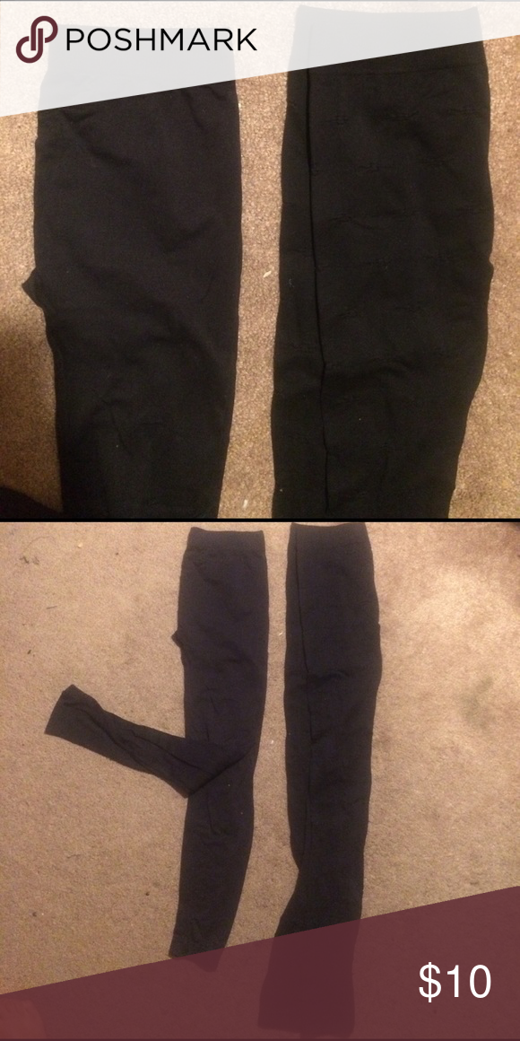 2 pairs black leggings great condition Who doesn't love black leggings Say What? Pants Leggings