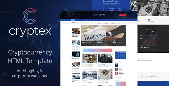 cryptex cryptocurrency html template business. Black Bedroom Furniture Sets. Home Design Ideas