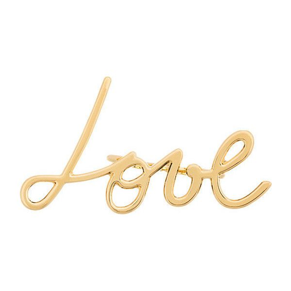 Lanvin Gold Double-Finger Love Ring found on Polyvore