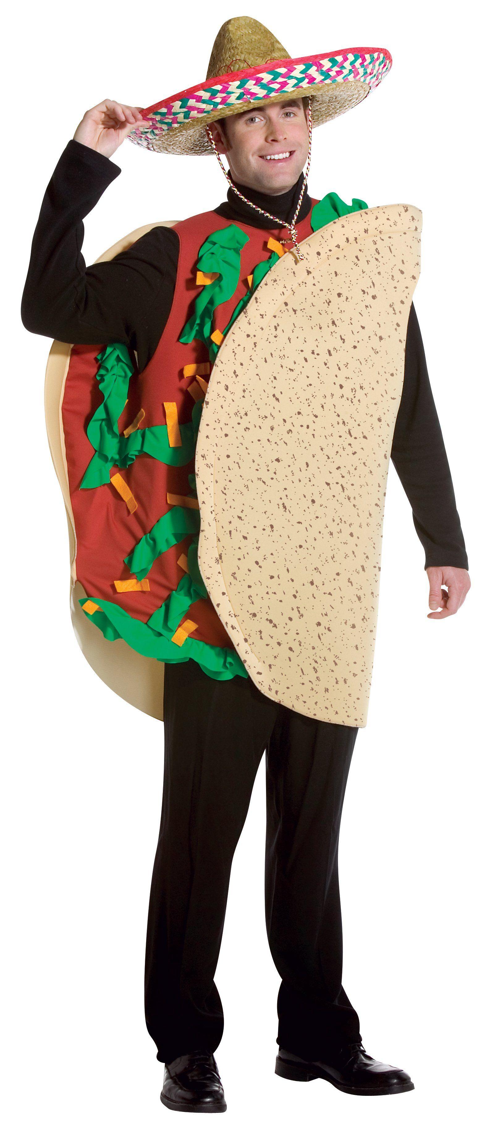 Adult Unisex Taco Costume Taco costume, Taco halloween