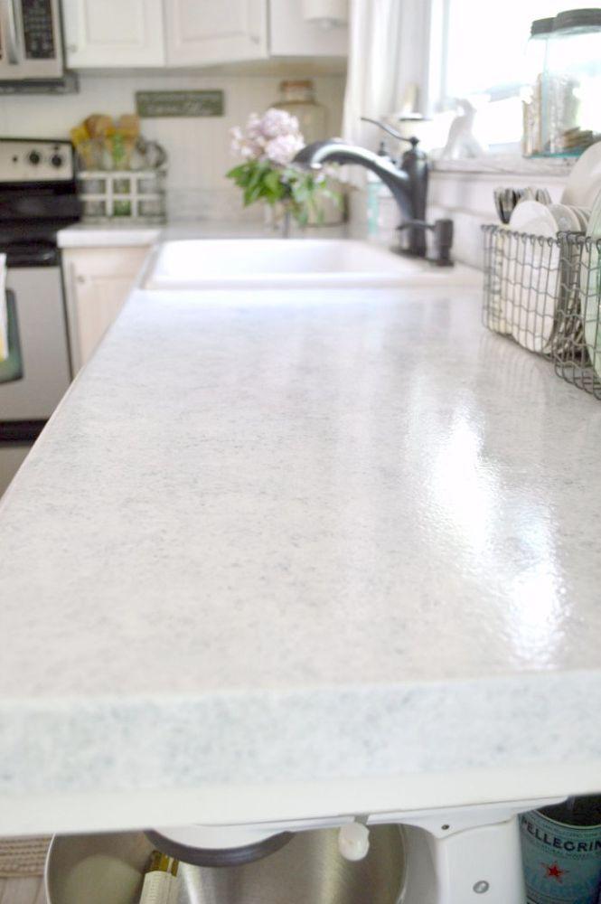 Countertop Transformation | Hometalk | kitchen ideas | Pinterest
