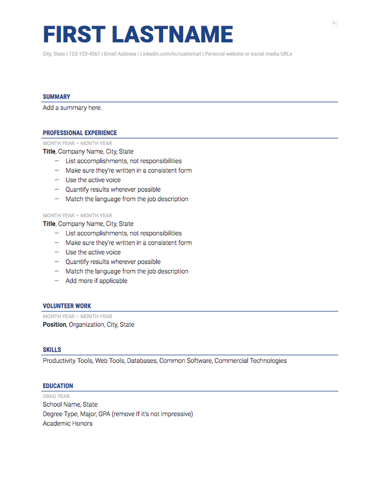 5 Google Docs Resume Templates And How To Use Them The